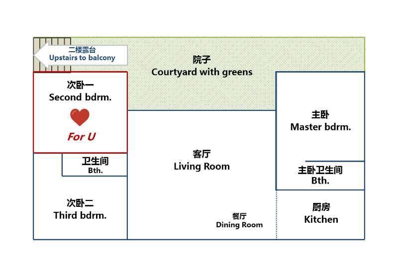 Beijing-Chaoyang-Hutong House,Short term