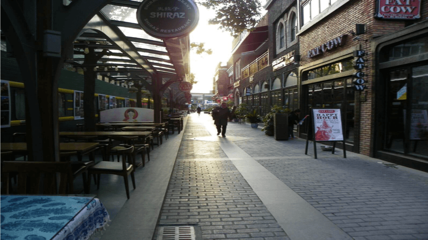 "Famous street near Fudan university — ""University Road"""