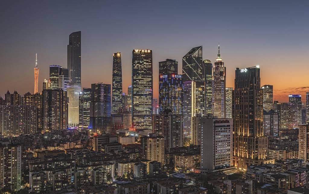 The night of Zhujiang New Town