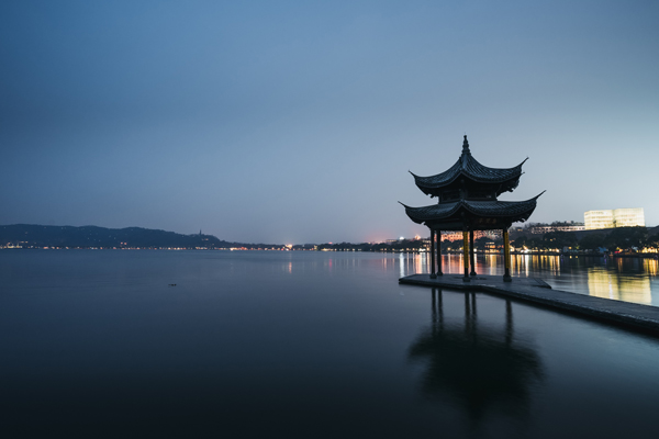 West Lake at night