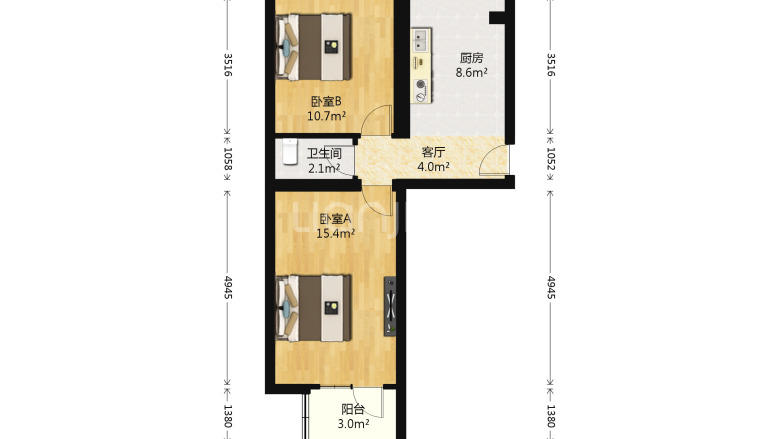Beijing-Dongcheng-Line 2/13,Long & Short Term,🏠,Single Apartment